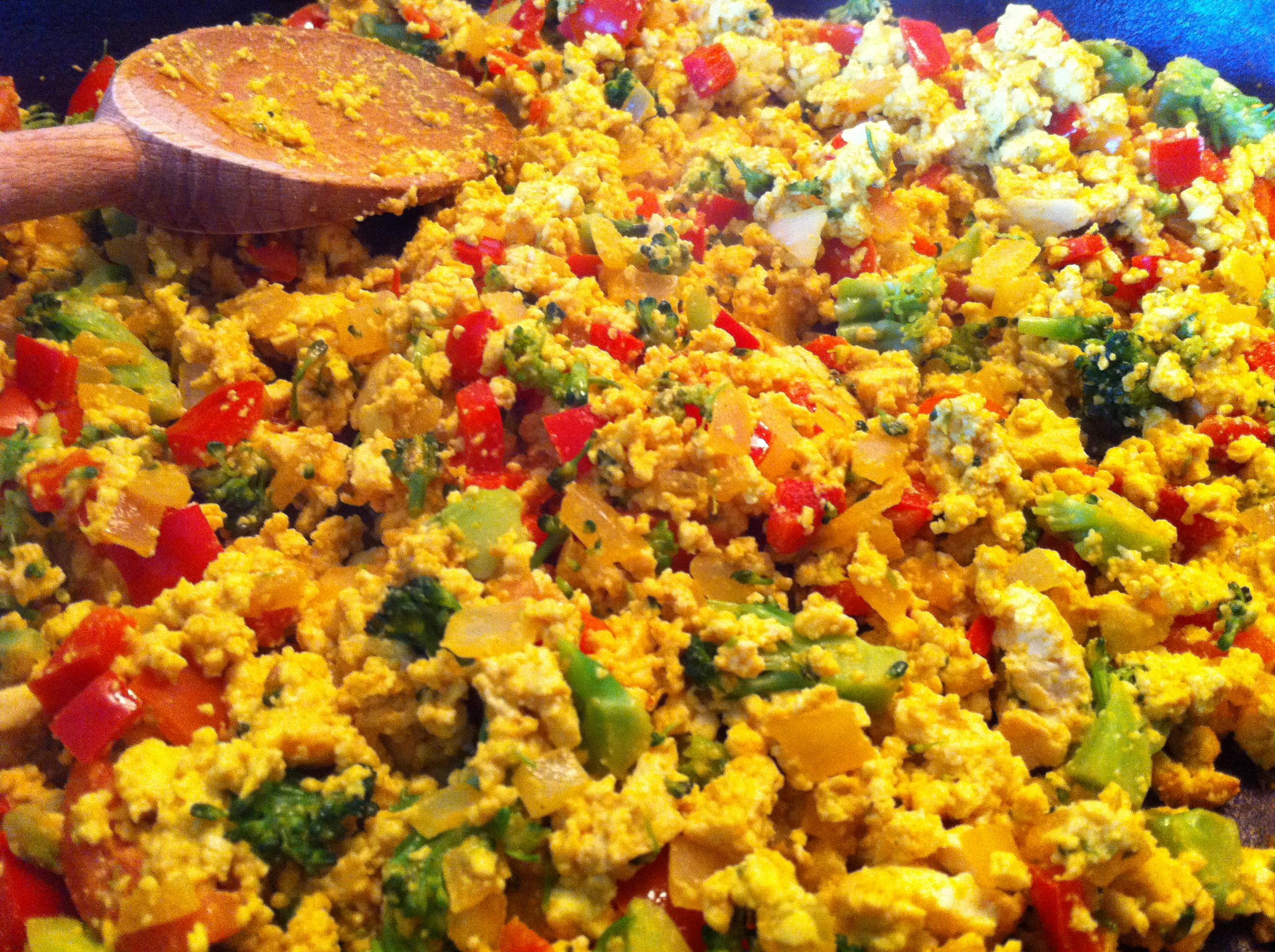 Tofu Scramble with Vegetables. Better Than Eggs? | The Plant Eater